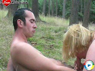 Fucking fat titties in the deep woods
