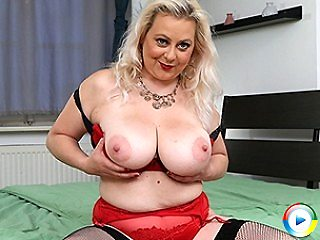 Curvy elleanor with huge strapon stripping erotically her huge natural p