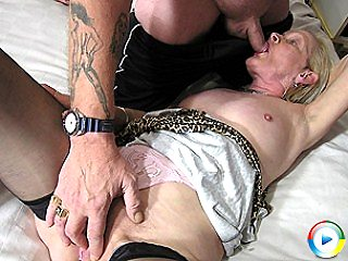 Granny just gets triple the fuck testing of fucking a lifetime