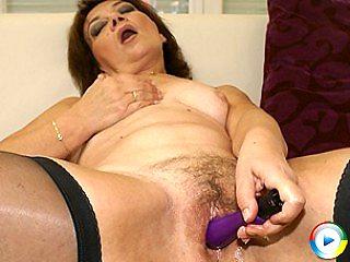 Mama enjoys rubbing fast her perfect big favorite plush toys yet boyfrie