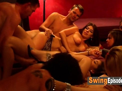 Horny swingers got together to fuck