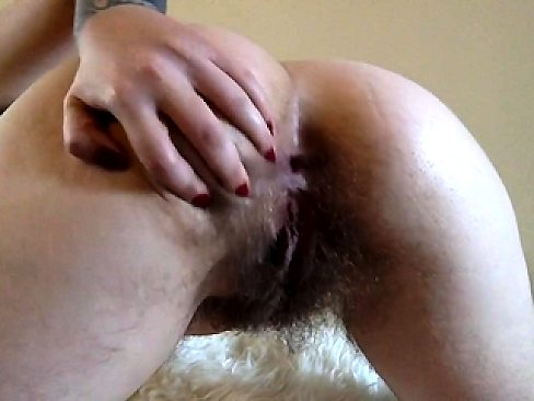 Extremely hairy pussy and big butt